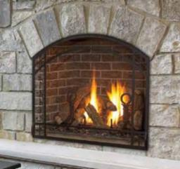 Alpha 36 Inch Gas Fireplace