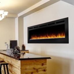 Allusion 84 Inch Recessed Electric Fireplace